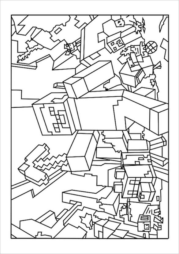 minecraft coloring page minecraft unicorn coloring page free printable coloring coloring page minecraft
