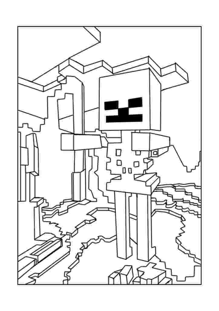 minecraft coloring pages wither 40 printable minecraft coloring pages wither minecraft pages coloring