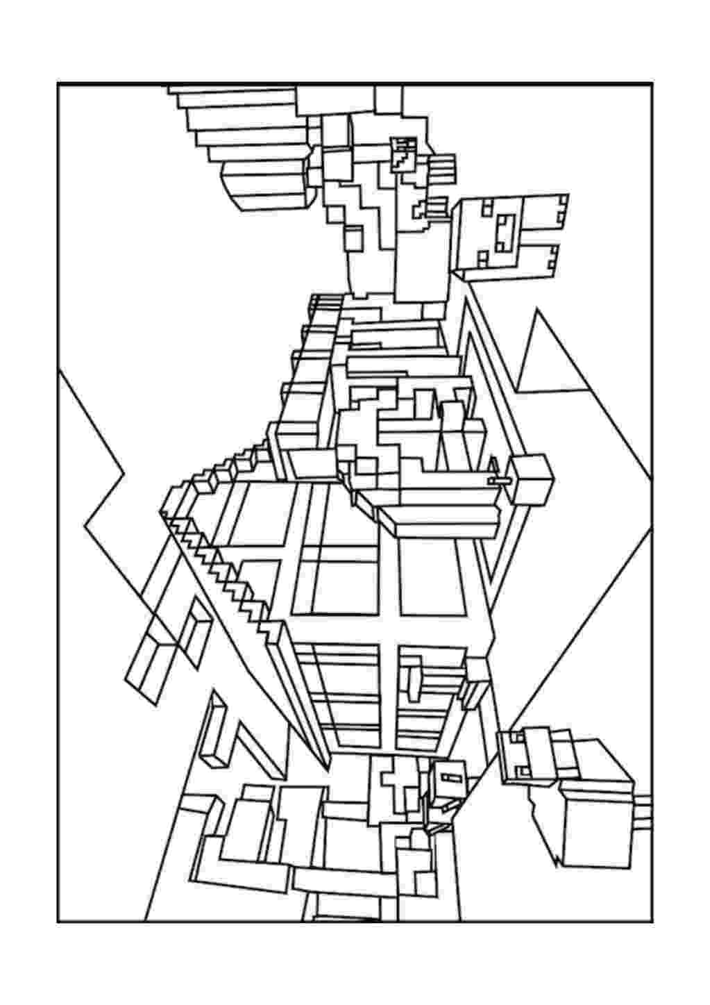minecraft coloring pages wither doves drawing at getdrawingscom free for personal use coloring wither minecraft pages