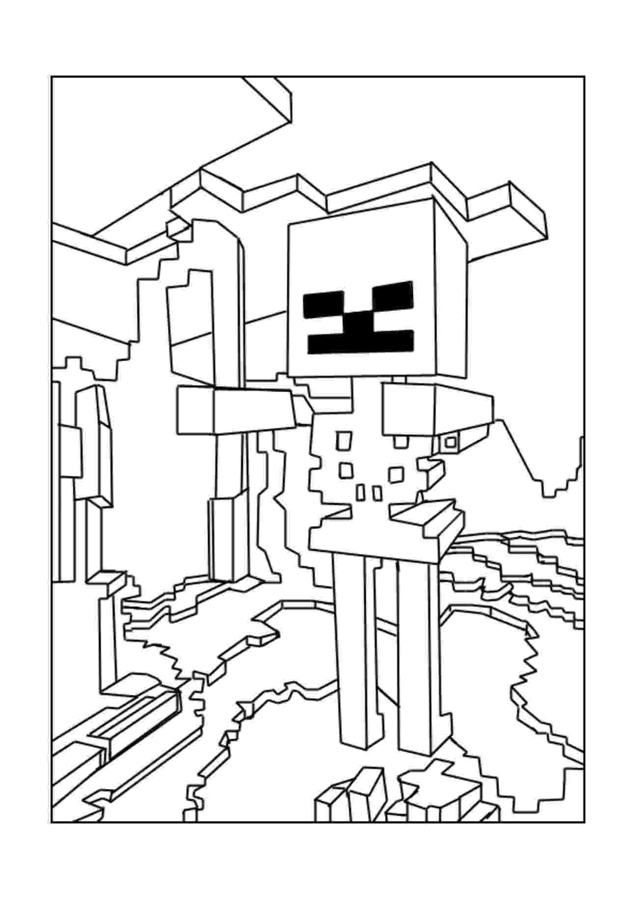 minecraft coloring pages wither minecraft coloring pages printable wither boss coloring coloring pages minecraft wither