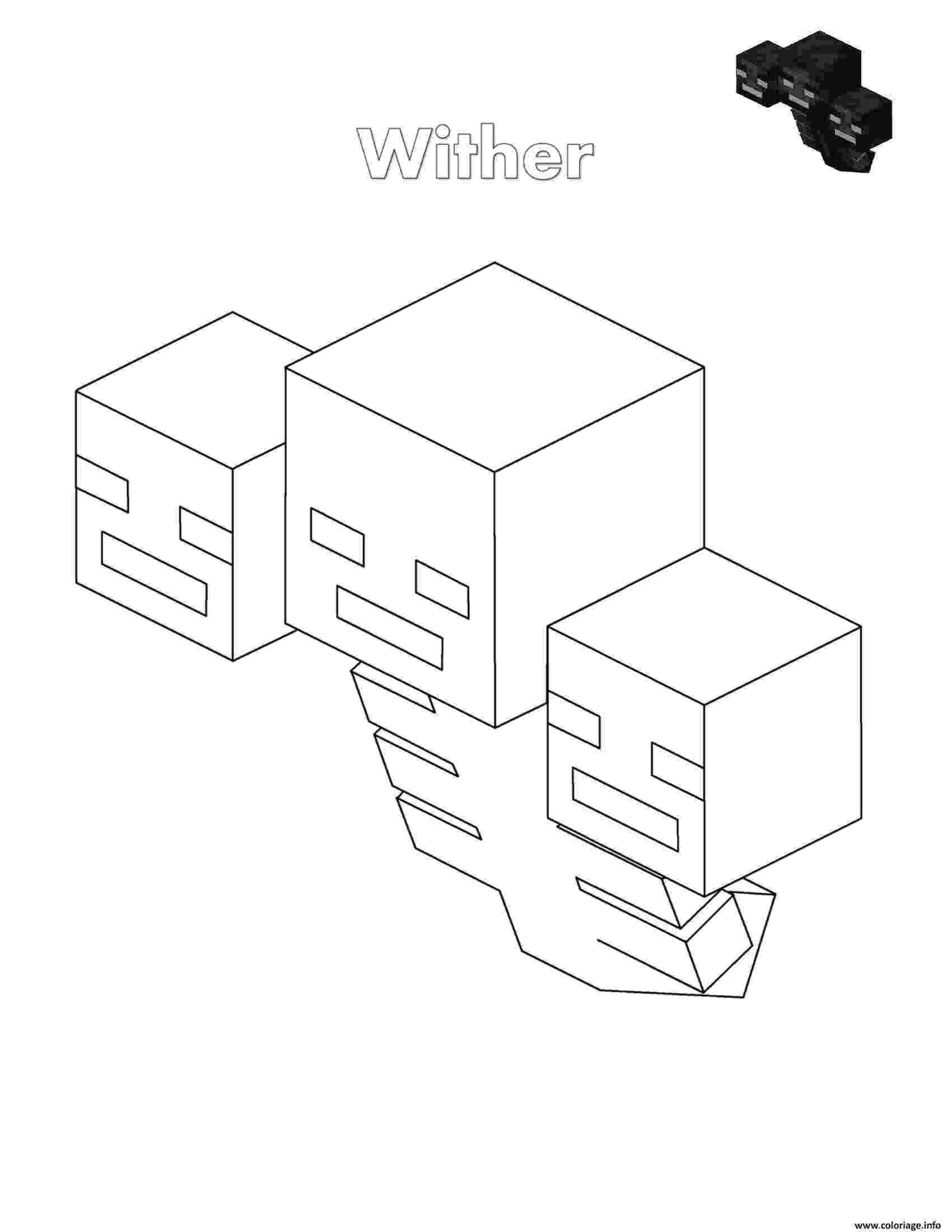 minecraft coloring pages wither minecraft wither coloring page free printable coloring pages wither pages minecraft coloring