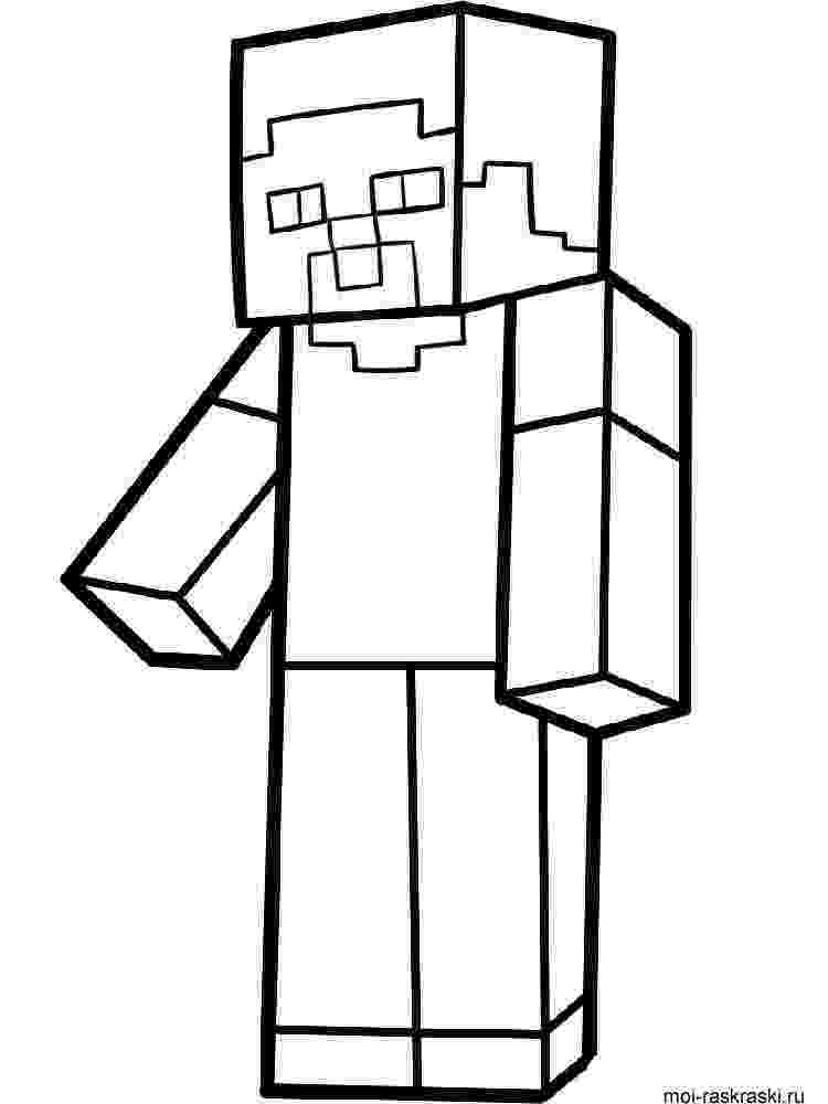 minecraft colouring pages free minecraft steve coloring pages getcoloringpagescom colouring free minecraft pages