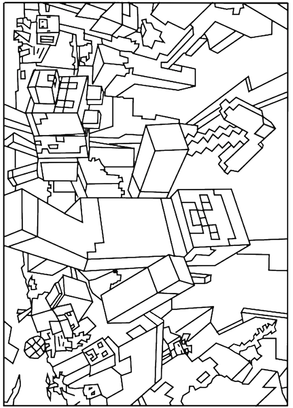 minecraft colouring pages free printable minecraft coloring pages coloring home colouring pages free minecraft
