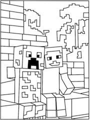minecraft printouts minecraft alex super coloring coloring pages for boys minecraft printouts