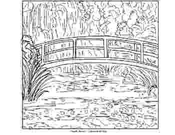 monet coloring pages monet bridge coloring page coloring pages monet pages coloring