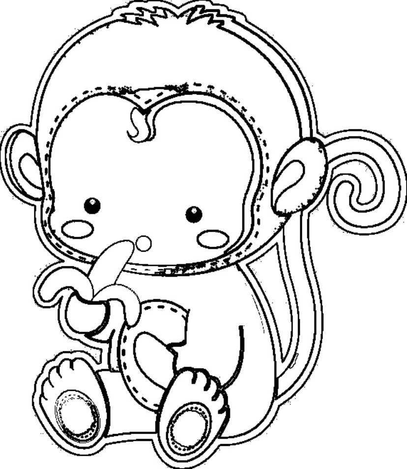 monkey coloring coloring pages for kids monkey coloring
