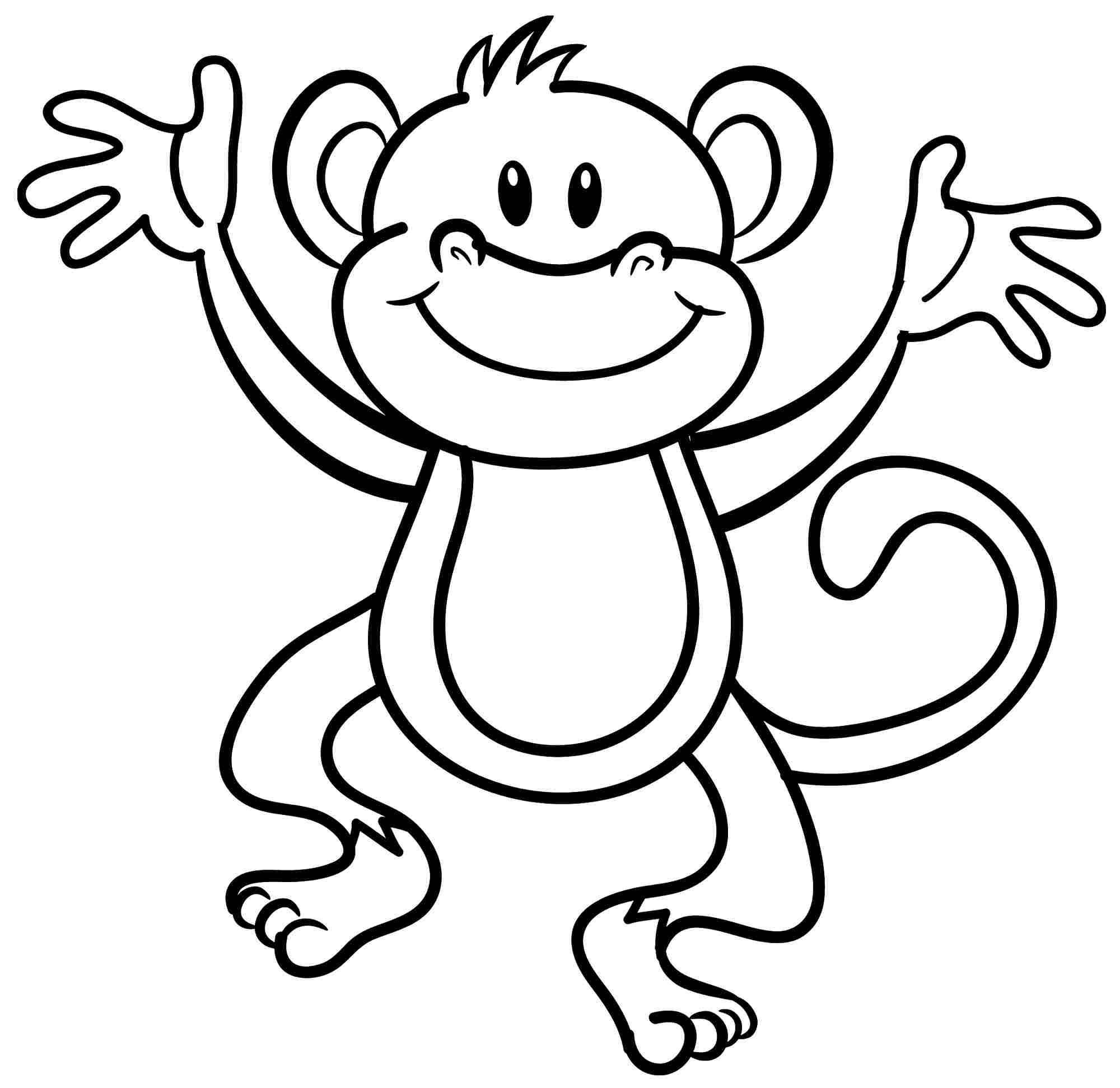 monkey coloring colouring monkey clipart best monkey coloring