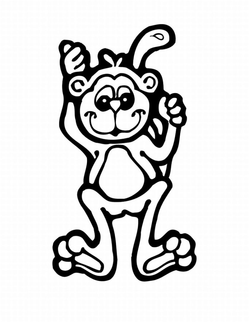 monkey coloring free printable monkey coloring pages for kids monkey coloring