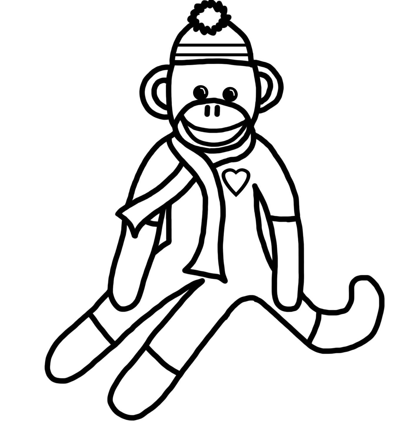 monkey coloring printables avery39s angels coloring monkey