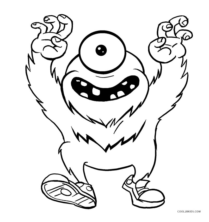 monster coloring sheets free printable monster coloring pages for kids cool2bkids sheets coloring monster 1 2