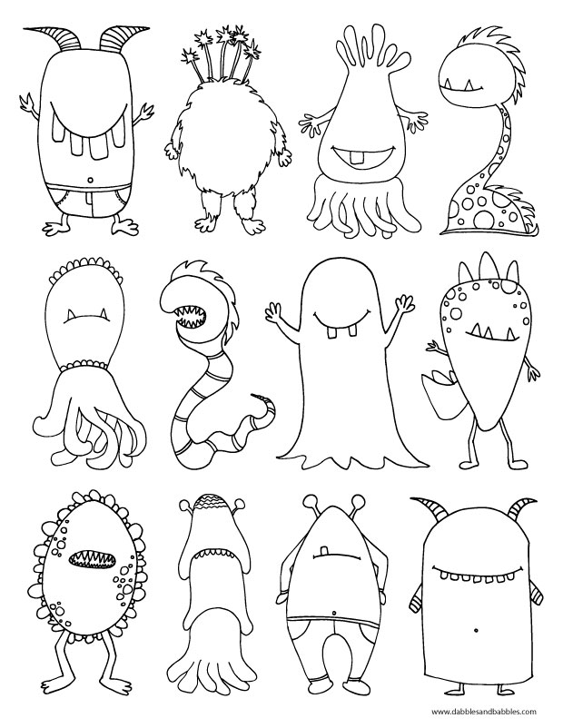 monster coloring sheets monster coloring pages 2018 dr odd sheets monster coloring