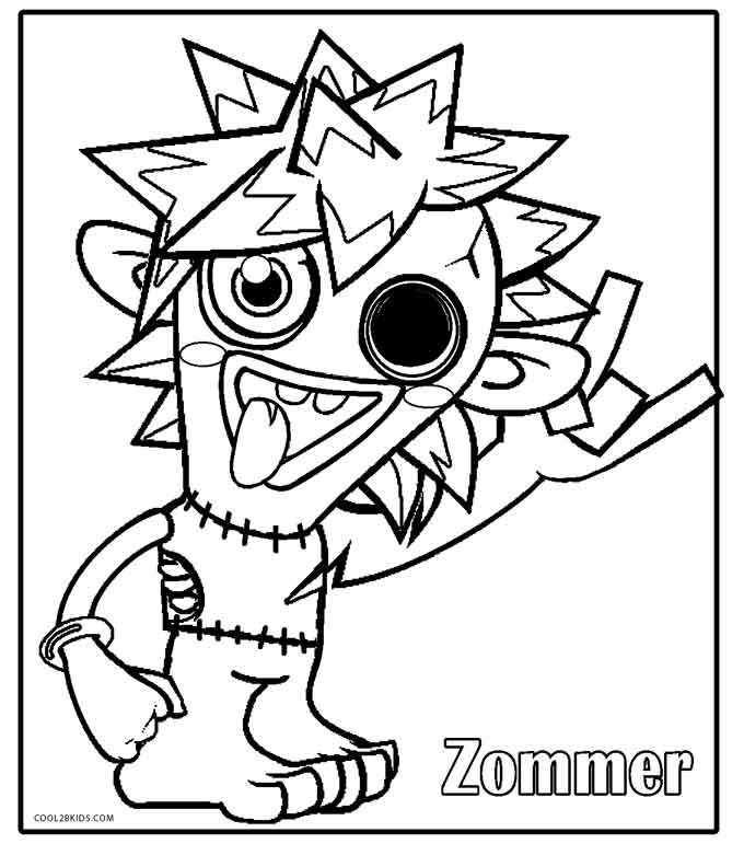 monster coloring sheets printable moshi monsters coloring pages for kids cool2bkids sheets coloring monster