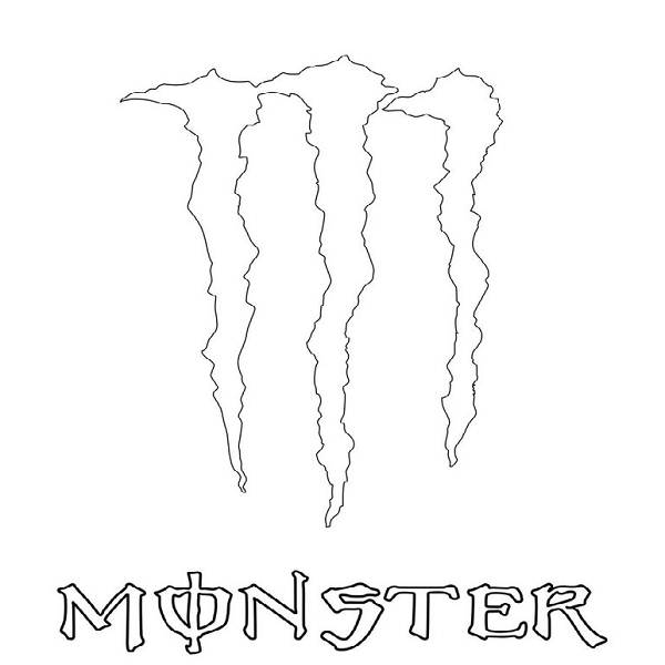 monster energy coloring pages dibujo de monster energy para pintar clipart best coloring energy pages monster