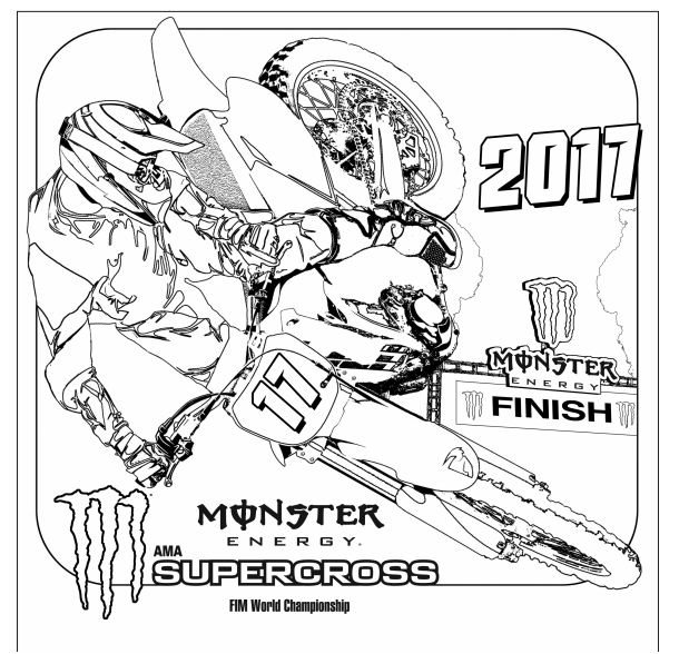 monster energy coloring pages monster energy ama supercross finals in las vegas energy monster coloring pages