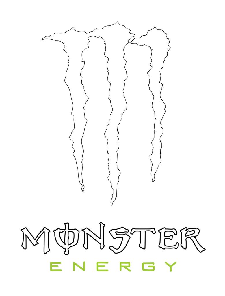 monster energy coloring pages monster energy drink logo outline clipart best monster pages coloring energy