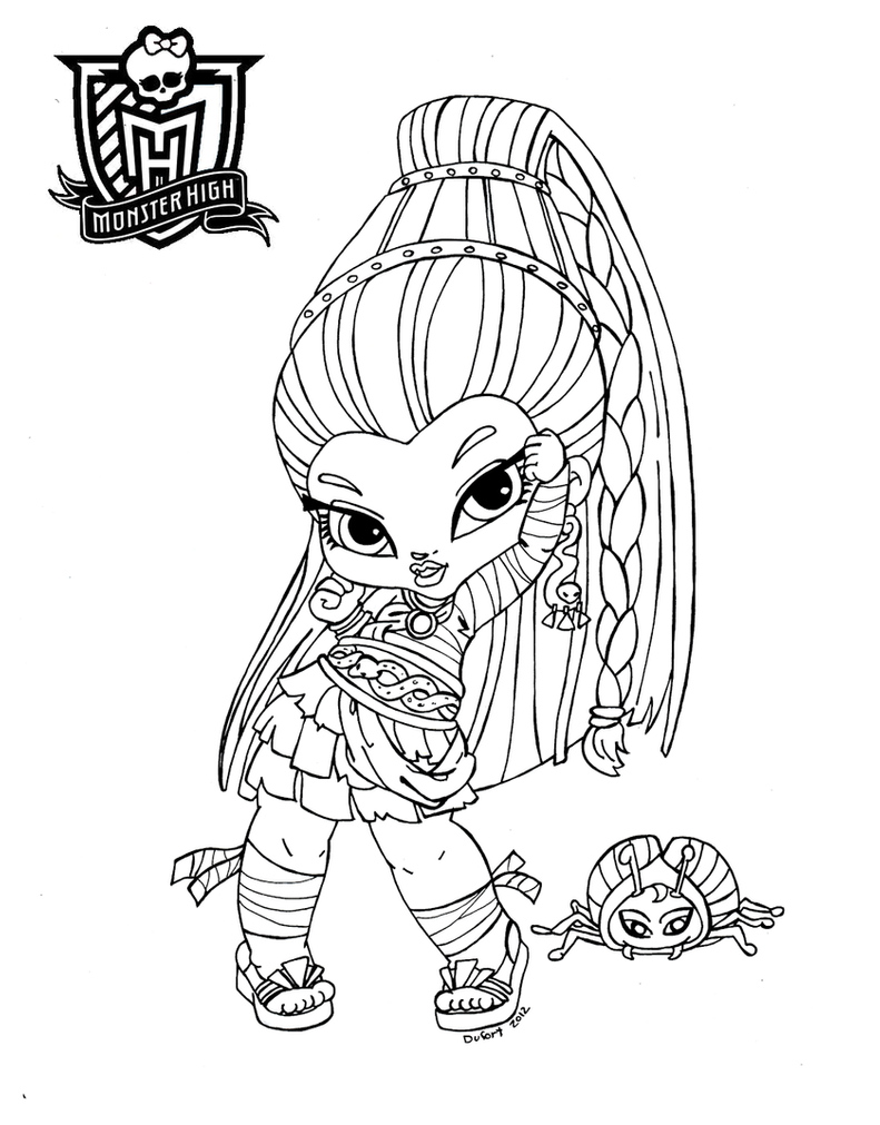 monster high baby coloring pages all about monster high dolls baby monster high character high baby coloring monster pages