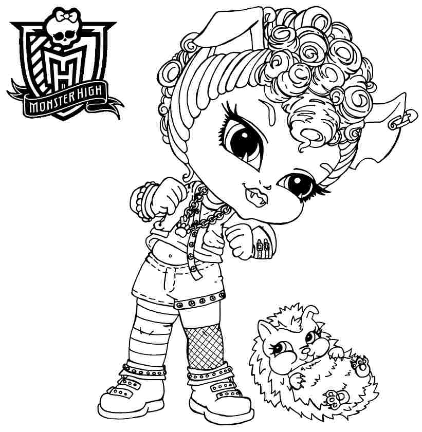 monster high baby coloring pages baby monster high coloring page getcoloringpagescom coloring high pages monster baby