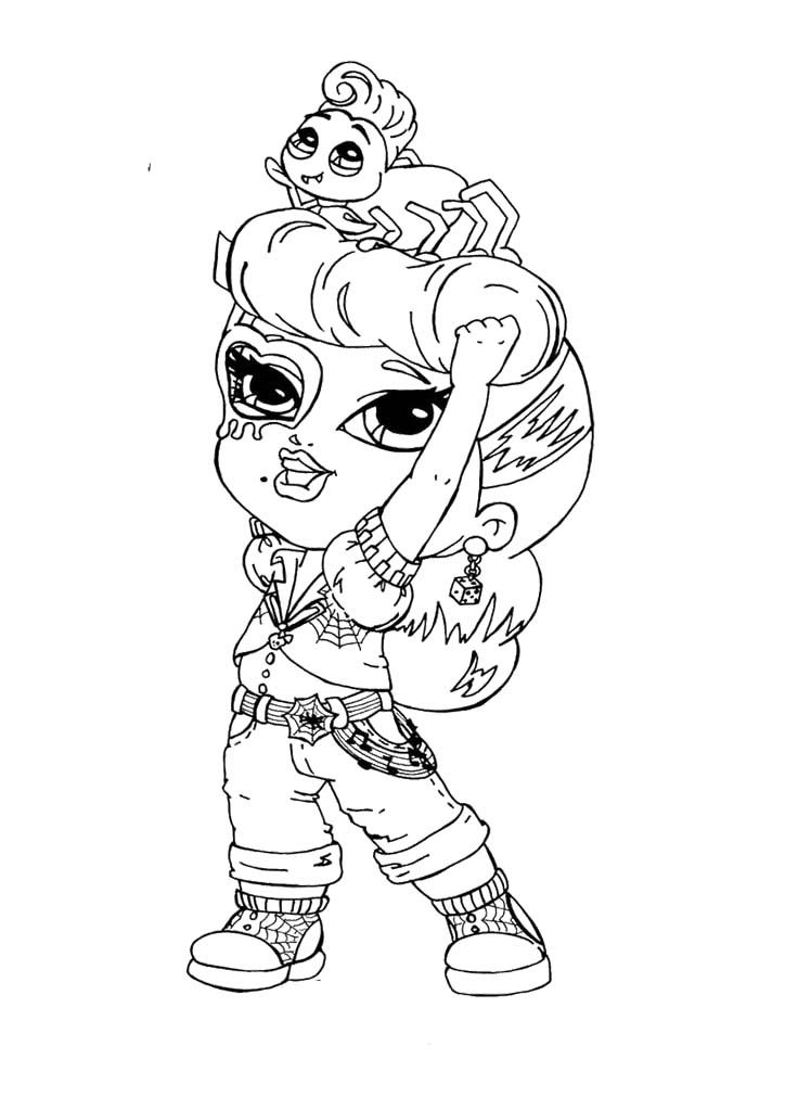monster high baby coloring pages baby monster high coloring page getcoloringpagescom pages baby high monster coloring