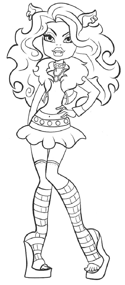 monster high coloring pages clawdeen wolf cute clawdeen wolf coloring page monster high wolf high coloring pages clawdeen monster