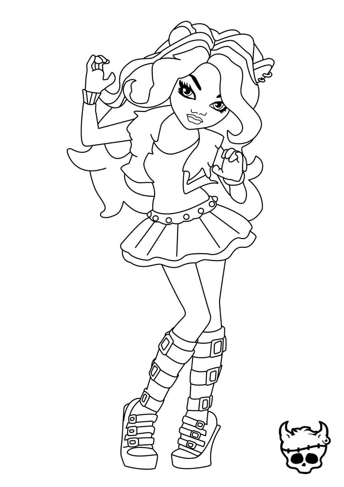 monster high coloring pages clawdeen wolf monster high clawdeen wolf coloring pages coloring home high wolf monster pages clawdeen coloring