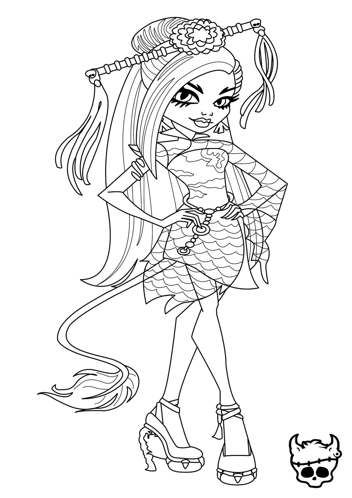 monster high doll coloring pages 56 best images about monster high on pinterest monster doll coloring high pages monster