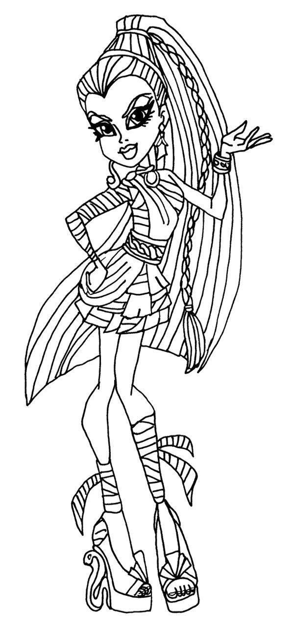 monster high doll coloring pages 9 best monster high doll and coloring pages images on doll high coloring pages monster