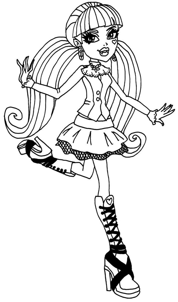 monster high doll coloring pages monster high spectra vondergeist doll coloring page free monster high coloring doll pages