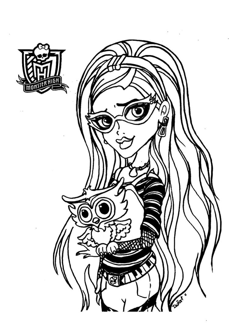 monster high doll coloring pages toralei doll by elfkena on deviantart high doll coloring pages monster