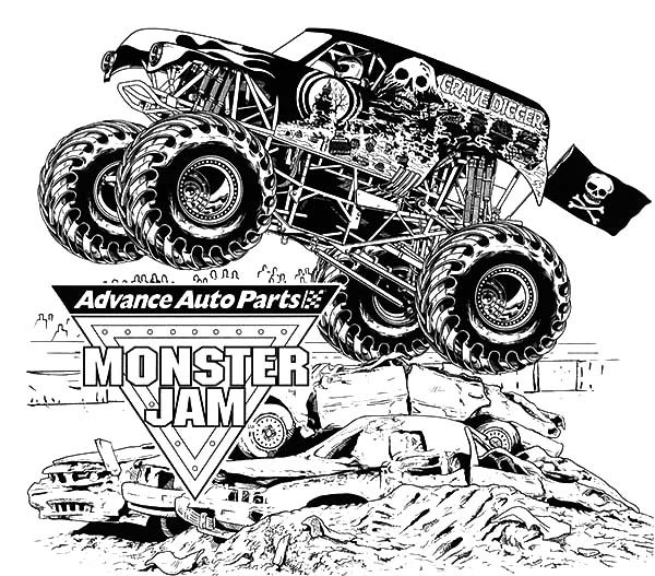 monster truck printable coloring pages download grave digger monster truck coloring pages monster printable pages truck coloring