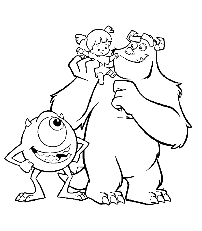 monsters inc boo coloring pages character little boo monster inc coloring pages drawing monsters boo coloring pages inc