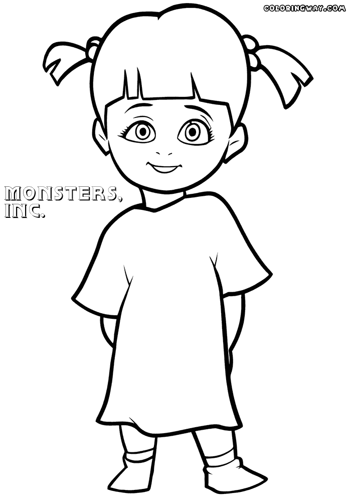 monsters inc boo coloring pages disney monsters inc coloring pages wecoloringpagecom pages inc boo coloring monsters