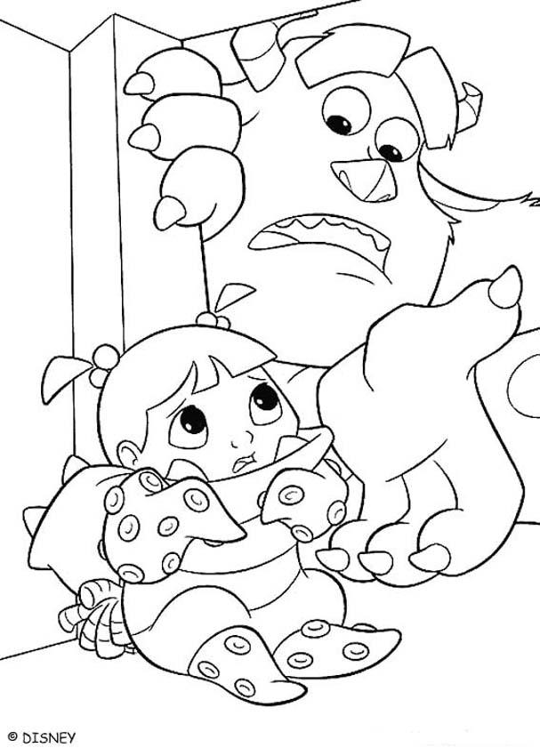 monsters inc boo coloring pages kolorowanka boo kolorowanki dla dzieci do druku inc boo monsters coloring pages