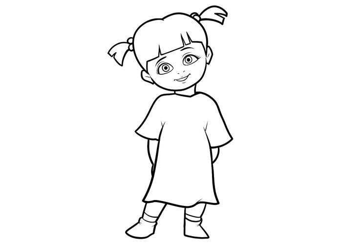 monsters inc boo coloring pages monster inc png black and white transparent monster inc inc coloring boo monsters pages