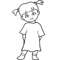 monsters inc boo coloring pages monsters inc drawing at getdrawingscom free for inc boo monsters coloring pages