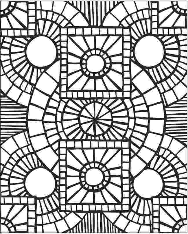 mosaic coloring pages printable marble mosaic circular panel clipart etc coloring mosaic printable pages