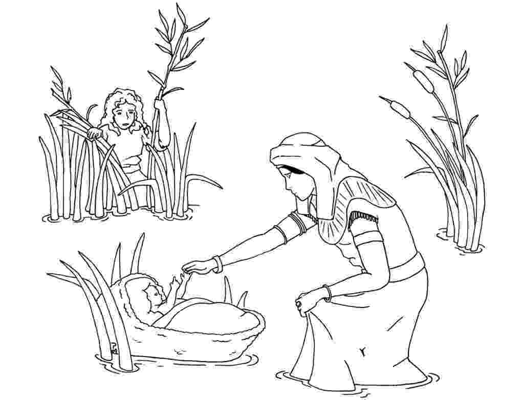 moses coloring pages for preschoolers church house collection blog baby moses in the basket pages coloring for preschoolers moses