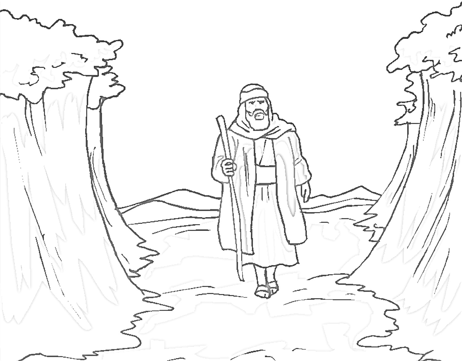 moses coloring sheet printable moses coloring pages for kids cool2bkids moses sheet coloring