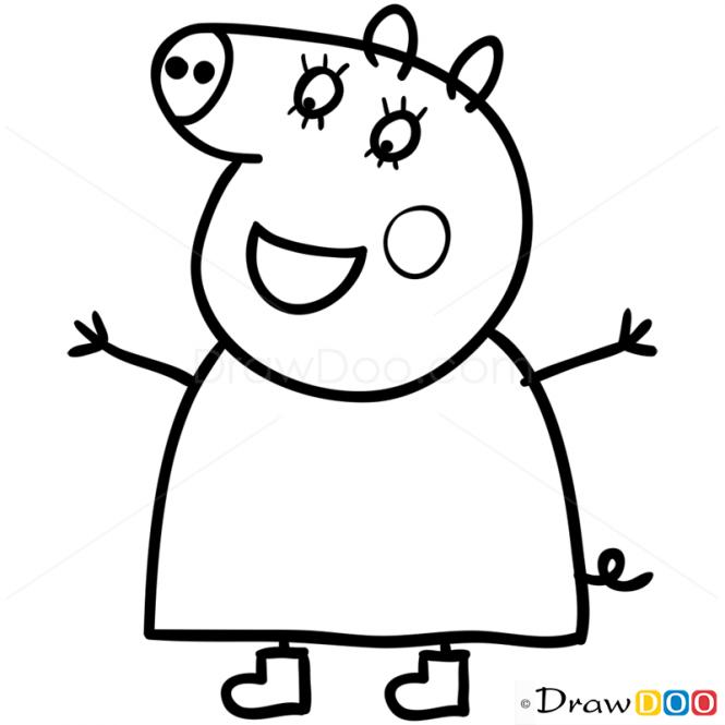 mummy pig how to draw mummy pig 1 peppa pig pig mummy