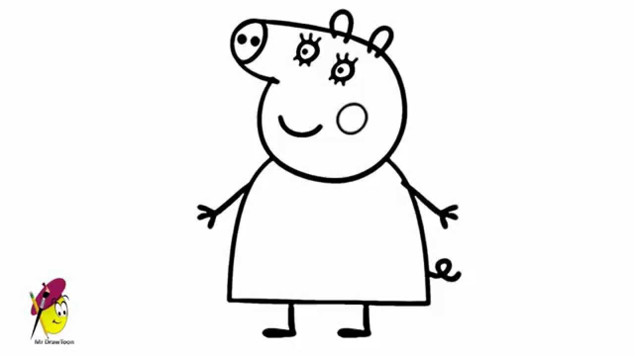 mummy pig mummy pig in winter suit coloring page free printable pig mummy