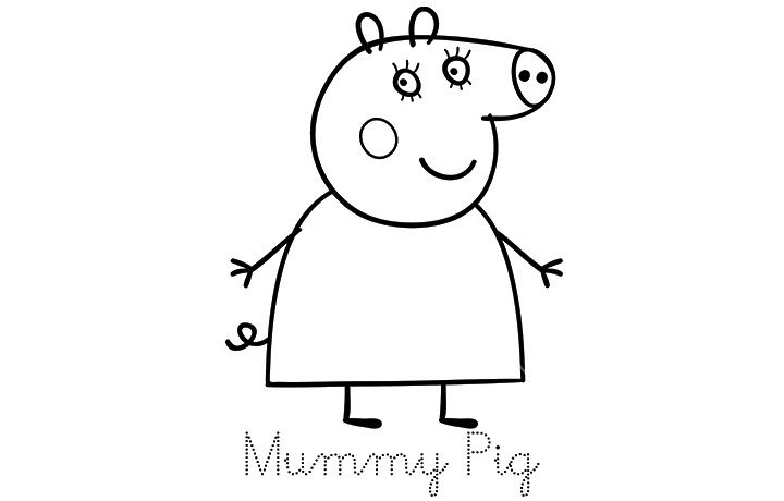 mummy pig quotpeppa pigquot coloring pages pig mummy