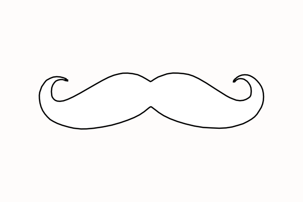 mustache coloring page free printable mustaches clipart best mustache coloring page