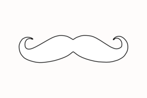 mustache coloring page mustache clip art at clkercom vector clip art online coloring page mustache