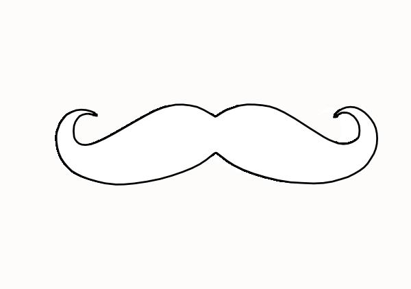 mustache coloring page mustache clip art at clkercom vector clip art online mustache coloring page
