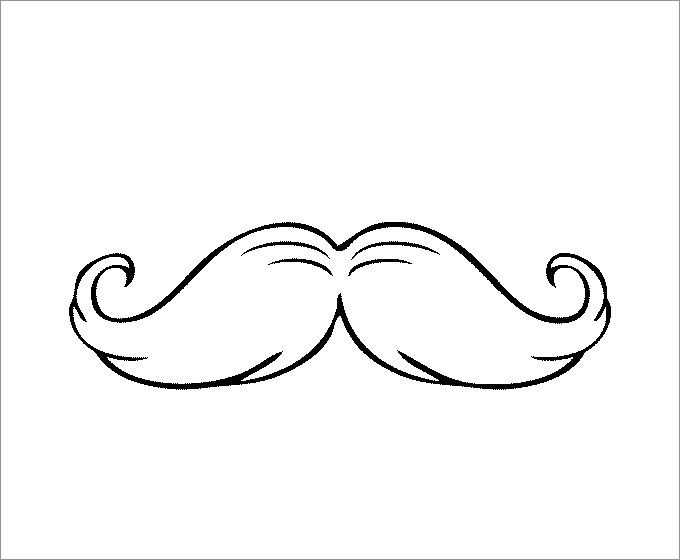 mustache coloring page mustache template free premium templates page coloring mustache