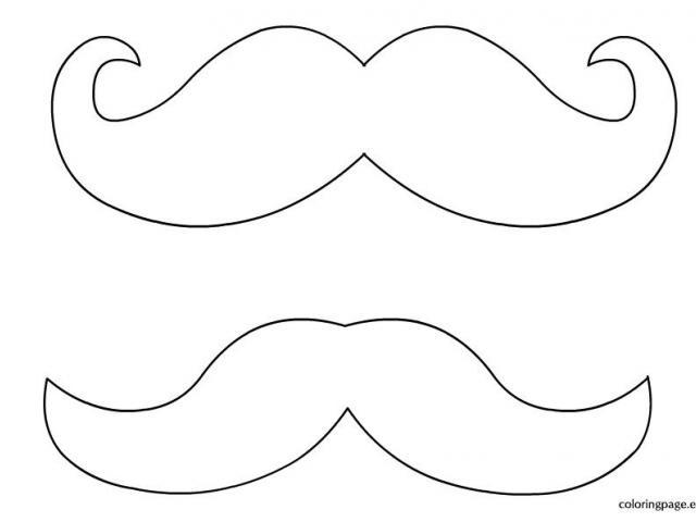 mustache coloring pages moustache coloring pages clipart best mustache coloring pages