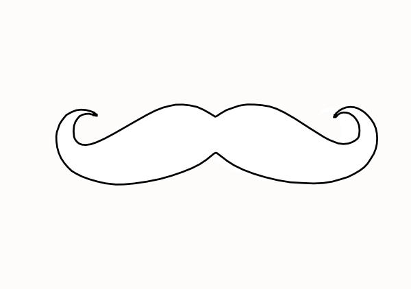 mustache coloring pages mustache clip art at clkercom vector clip art online coloring pages mustache