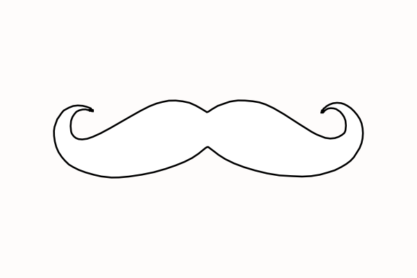 mustache coloring pages mustache clip art at clkercom vector clip art online pages coloring mustache