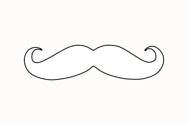 mustache coloring pages mustache clip art at clkercom vector clip art online pages coloring mustache