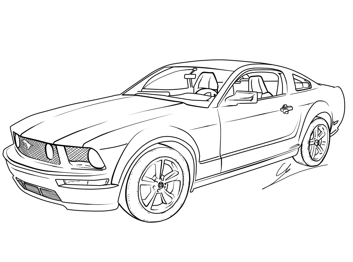 mustang pictures to color 1969 ford mustang adult coloring page printable coloring pictures mustang to color