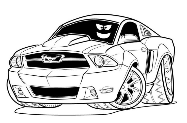 mustang pictures to color ford mustang gt 2018 front view coloring page free mustang color to pictures